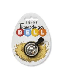 Thumbdinger Bell Silver Bling on cardboard