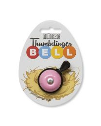 Nutcase Thumbdinger Bell Pretty Pink on cardboard