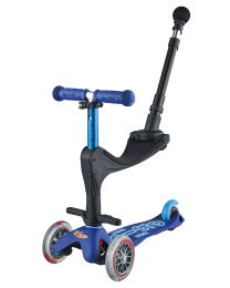 Mini Micro Deluxe 3in1 Blue Push Bar